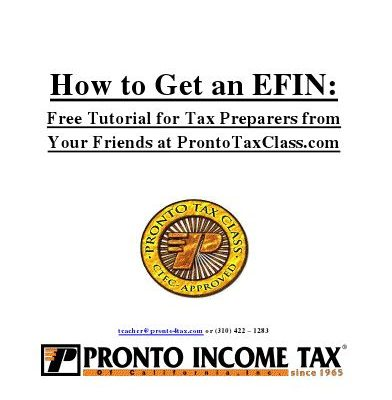 Download Page | How to Get an EFIN from the IRS | Free EBook