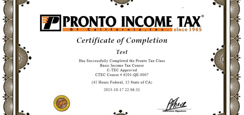 Pronto Tax Class Online Tax Course Options