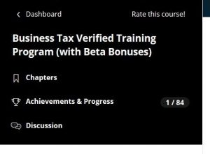 Online Corporate Tax Course: Outline ProntoTaxSchool.com