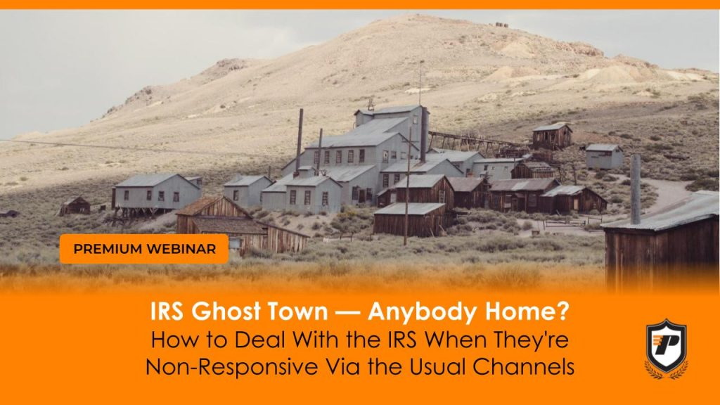 IRS Ghost Town webinar graphic